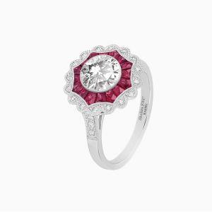 Antique Art Deco Style Flower shape Diamond Ring
