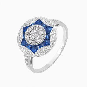 Art Deco Style Diamond Ring - Illusion Setting