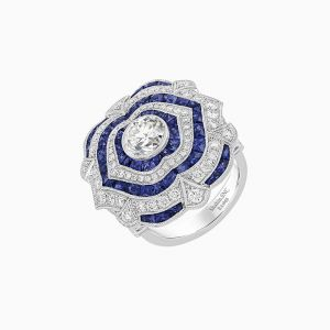 One of a kind of vintage-inspired flawless fit ring