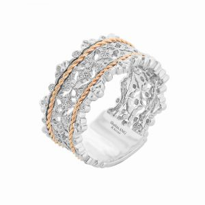 Two Tone Antique Style Wide Band