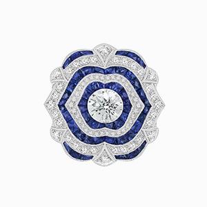 Blue Sapphire antique vintage rings