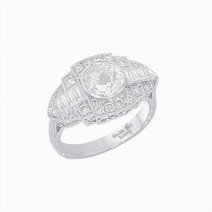 Diamond antique vintage rings