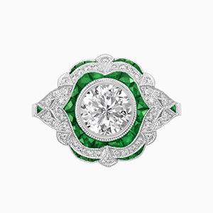 Emerald antique vintage rings