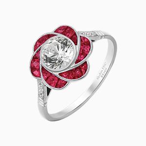Ruby antique vintage rings